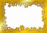 Snow crystals gold frame