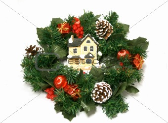 Garland with Toy-house