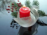 Swan-shaped Candle Holder
