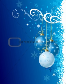 blue christmas background / vector illustration