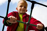 Child playing at the playground