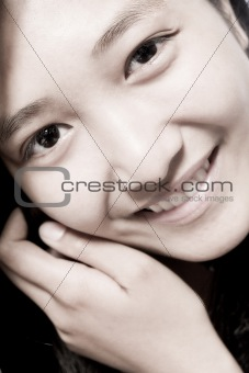Asian girl smiling cute