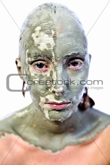 Green claymask