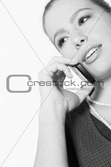 Teenage girl with a phone