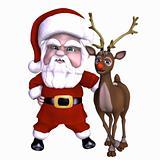 Santa and Reindeer 1