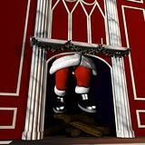 Santa Going Down Chimney 5