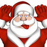 Santa Giving a Raspberry 2