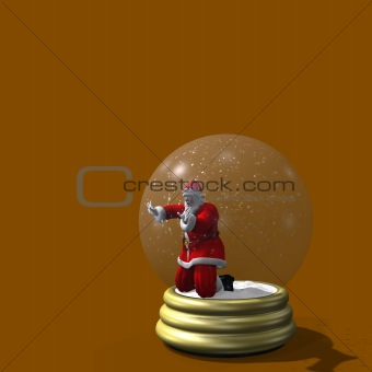 Santa Trapped in Snow Globe