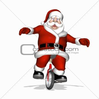 Santa Toy Testing - Unicycle 2