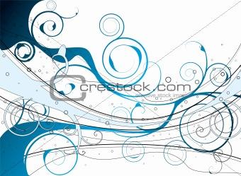 blue florish