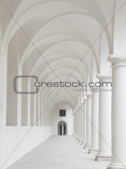 White colonnade