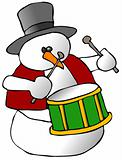 Snowman Drummer