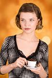 girl with a coffee cup