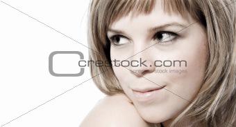 model looking over her shoulder