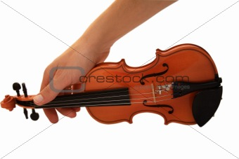 Small violin in a hand