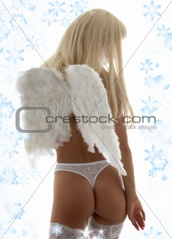 lingerie angel with snowflakes