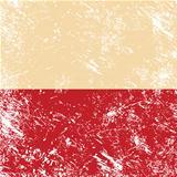 Poland retro flag
