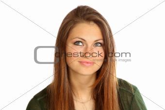 Portrait of teenage girl.
