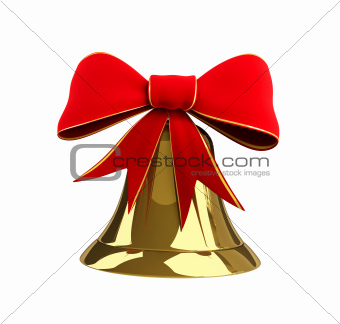 Christmas bell with a bow