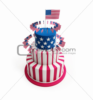Cake for July 4th