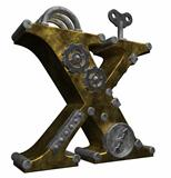 steampunk letter x