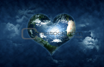 earth shaped heart