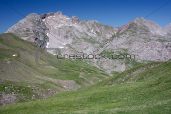 Mountain Peeks And Alpine Meadows