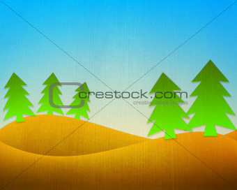 green tree grunge background