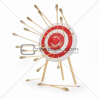 target arrow heart