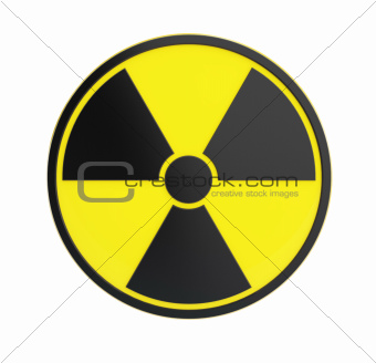 radioactivity sing  on a white background