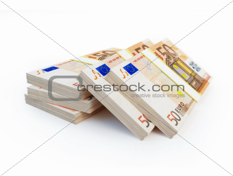 stacks of euro
