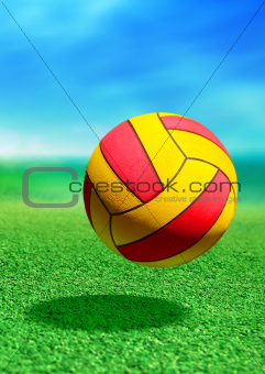 multicolored ball