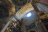 gorgeous ñeiling of the baroque chirch in Italy, Rome.