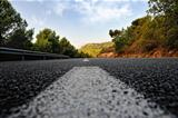Summer rural landscape with road