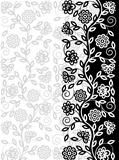 Decorative floral pattern. Retro background. Vector illustration.