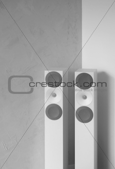 Modern sound system speakers