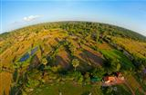 Aerial view of Cambodian countryside