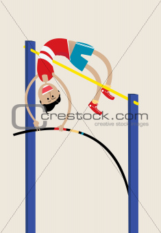 Olympic athlete doing pole vault