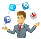 Business man juggling