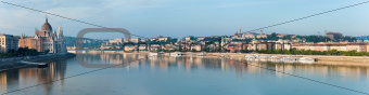 Budapest morning panorama