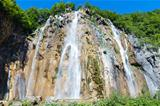 large waterfall in Plitvice Lakes National Park (Croatia)