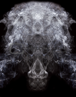 symmetry patterns of smoke on black background