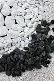 White and black pebble stones