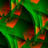 Green-fiery abstract.