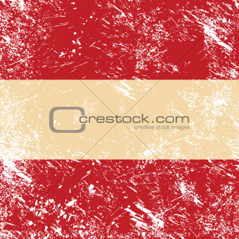 Austria retro flag