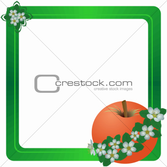 Frame with a red apple