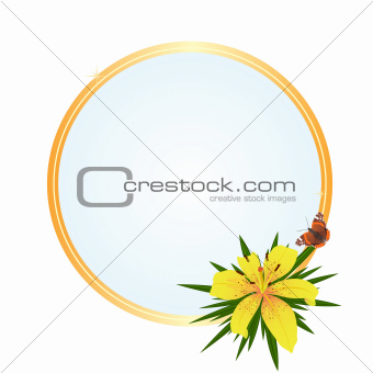 Frame with a yellow flower