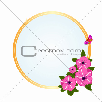 Frame with meadow flowers