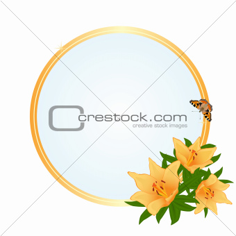 Frame with yellow flowers
