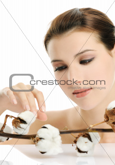 girl with cotton